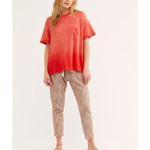 NWT Free People Lucky Tee Cosmic Red